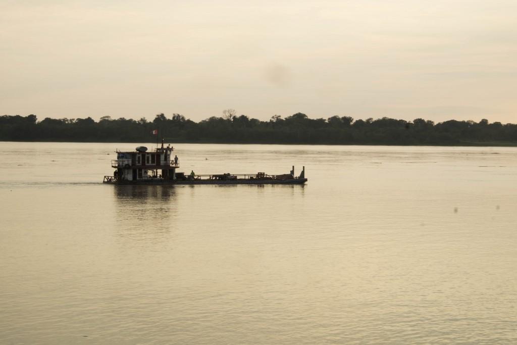 Cargo boat Amazon