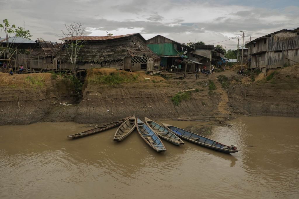 A village along the Amazon River